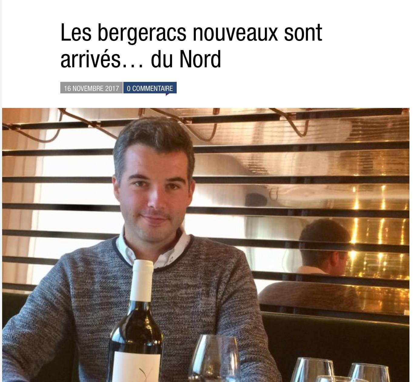 Les bergeracs nouveaux sont arrivés… du Nord – Magazine Terres de Vin (France)